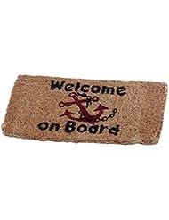 Coir Mat 25 x 50 CM Welcome on Board Abstreicher by TALAMEX