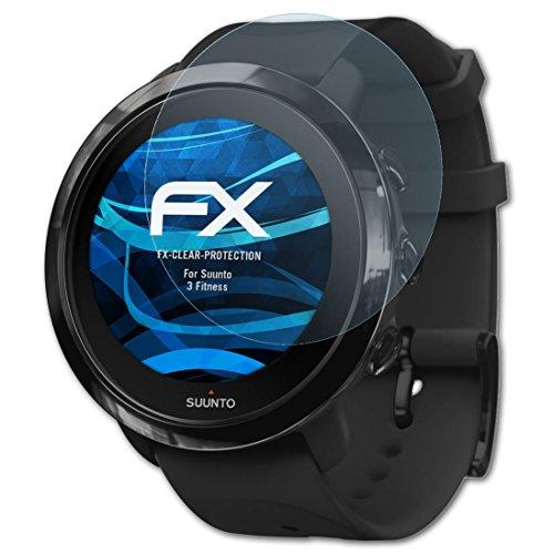 atFolix Schutzfolie kompatibel mit Suunto 3 Fitness Folie, ultraklare FX Displayschutzfolie (3X)