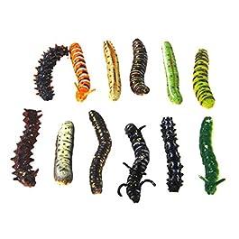 Plastica Twisty verme bomboniere trucchi, confezione da 12, multicolore
