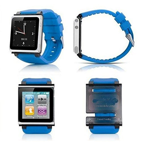 PinPle Nice Replacement Accessory Wristband Watchband For iPod Nano 6 iWatchz Q (Blue)