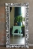 Naturesco Edler Barockspiegel Wandspiegel massiv Holz silber antik 120cm x 60cm
