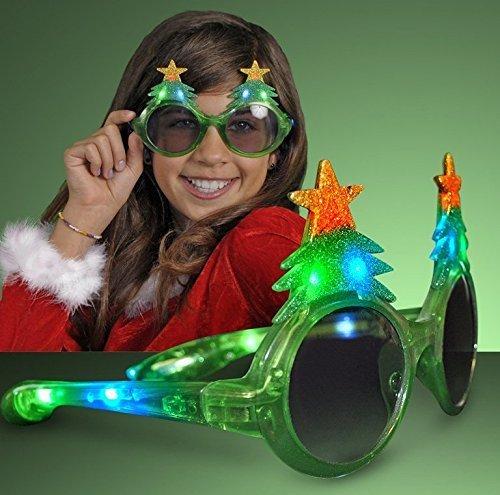 UChic 1 STÜCKE Glitter Weihnachten Leuchten 3 Modus Green Flash Blinkende LED Sonnenbrille Für Weihnachten Lieferungen