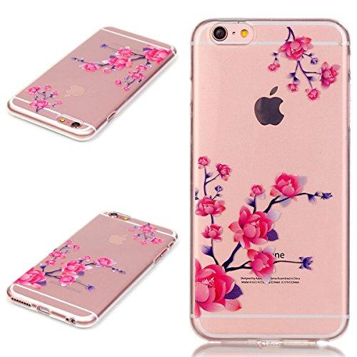 Beiuns coque en silicone pour Apple iPhone 6 (4,7 pouces) Housse Coque - N183 Plume au vent N193 Fleurs