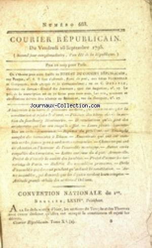 COURIER REPUBLICAIN [No 683] du 18/09/1795
