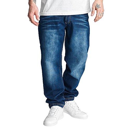 Thug Life Herren Jeans / Karottenjeans Primorsk Blau