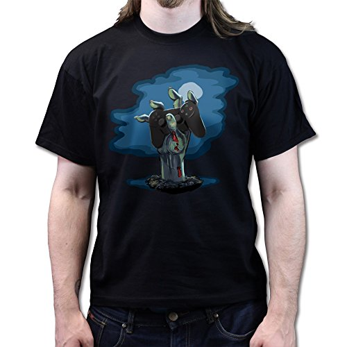 Zombie PS3 Gamer Black Ops Walking Zombie T-shirt Schwarz