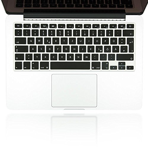 nica Folio de protección de silicona nibody Keyboard para la protección del teclado para APPLE MACBOOK AIR / PRO / PRO RETINA 13' & 15', Mac pegatina funda de protección, cubierta, Cover, película super fina y transparente, Color:Negro
