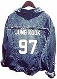 SERAPHY Unisex BTS Jeansjacke für Army BTS KPOP Hoodies Kapuzenpullover Suga Jin Jimin Jung Kook J-Hope Rap-Monster V 97 Jungkook