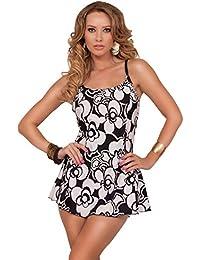 Taillierter Schlankheitsspagetti-Riemen-Konservativer Ein Stück-Sommerstrandschwimmen-Kleid