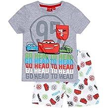 Disney Cars 2 Pyjama Kollektion 2017 Shortie 92 98 104 110 116 122 128 Shorty Kurz Jungen Neu Schlafanzug Lightning McQueen Grau-Weiß
