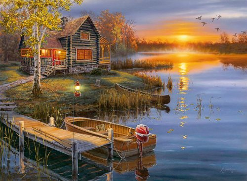 Clementoni Puzzle 30387 - Autumn at the lake - 500 pezzi High Quality Collection