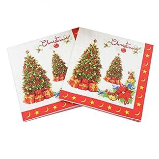 Toyvian 20 piezas servilletas impresas desechables suministros para fiestas de árbol de navidad servilletas de papel tejidos para cumpleaños de navidad