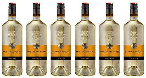 HXM Muller Thurgau Trocken Qualitätswein Rheinhessen 2016 Weißwein (6 x 1 l)