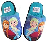 Disney Frozen Hausschuhe Pantoffeln Mädchen Kindergarten Schuhe Gr. 25-32 (29/30, türkis)