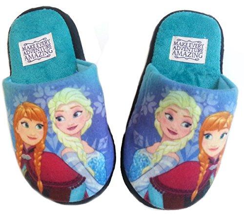Disney Frozen Hausschuhe Pantoffeln Neu Mädchen Kindergarten Schuhe Gr. 25-32 (27/28, Lila)