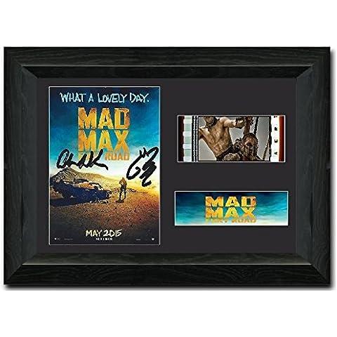 Mad Max: Fury Road 35mm pantalla enmarcados de la película firmada Coleccionable de Impresionante Tom Hardy Charlize Theron