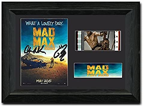 Mad Max Fury: Road - 35 mm-Film Cell, gerahmt, Motiv Tom Hardy, signiert, tolles Sammlerstück Charlize
