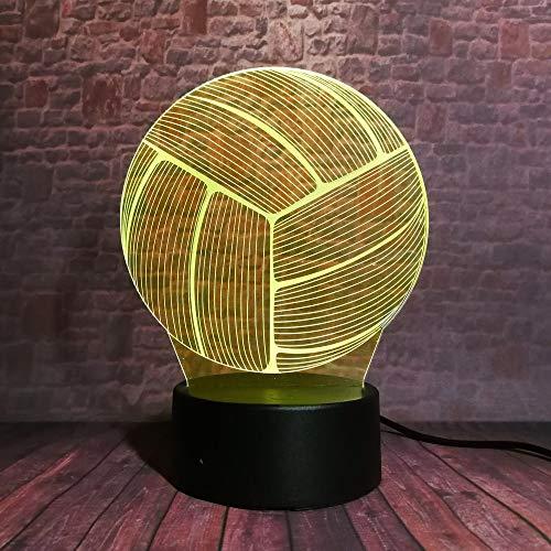 WangZJ 3d Geschenke Spielzeug Dekor Led Nachtlicht / 7 Farben Nachttischlampe/geburtstag Präsentieren Dekoration/weihnachtsgeschenk/Volleyball