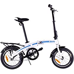 Bicicleta dobrável AWN 16 polegadas alumínio 1 velocidade
