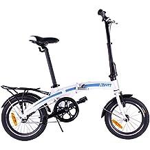 AWN Bicicleta plegable de 16 pulgadas de aluminio 1 velocidad