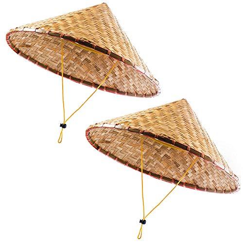 FGRYGF Lustige Partyhüte Orientalischer Hut - asiatischer Hut - chinesischer Hut - japanischer Hut & ndash; Konischer Hut & ndash; Reisbauer Hüte