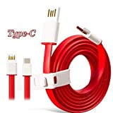 #6: CELLTELL USB Type C Cable Type C Data Transfer Charging Cable for Gionee A1 Plus / Gionee A 1 ( One ) Plus (+) USB Type C Cable / USB Type-C Cable / USB Type C Charging Cable / USB Type C Data Cable / USB Type C Sync Cable / Original Genuine certified Type-C Cable / USB Type-C to USB-A 2.0 Male Cable Best Tangle Free Heavy Duty High Speed Fast Charging Cable Compatible With All C Type USB Port Mobile Phone Devices (RED, 1 Meter Length)