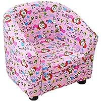 Preisvergleich für ALUK- small stool Der Bequeme Stuhl der Kinder Einfacher moderner Stuhl Netter Karikatur-Lehnsessel Schöne Farbe bequem und leicht L45cm * W45cm * H44cm