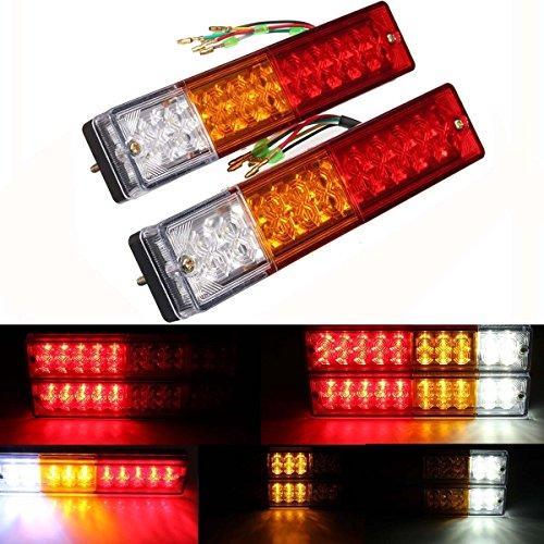 AMBOTHER-2x-20LED-Rckleuchten-Rcklicht-Aoto-Anhnger-LKW-Bremsen-Hintere-Endstck-Indicator-Light-Leuchte-Heckleuchte-Warnleuchten-Strobe-Blitzlicht-wasserdichtes-IP65-DC12V-Rot-Bernstein-Wei-fr-Trailer