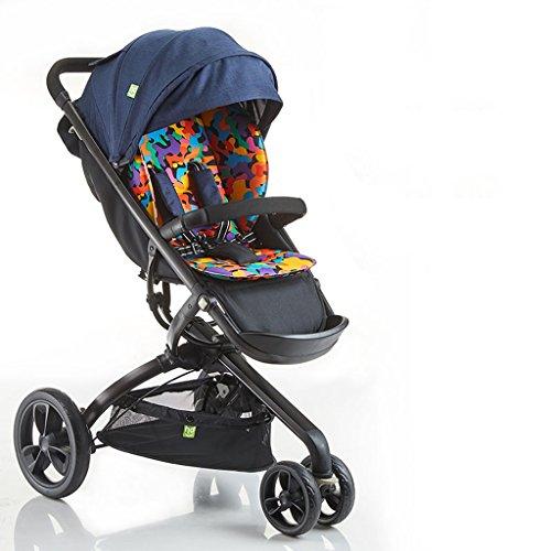 Camo Kinderwagen, klappbares Stoßdämpfer-Dreirad, Aluminiumrahmen, Schwammkissen ( Color : Camo Orange ) (Camo Kinderwagen)