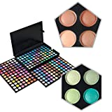 KRABICE Augenschatten Make-up Palette, 252 Farbe Lidschatten Palette Augenschatten Make-up Kit Set Make Up Professional Box