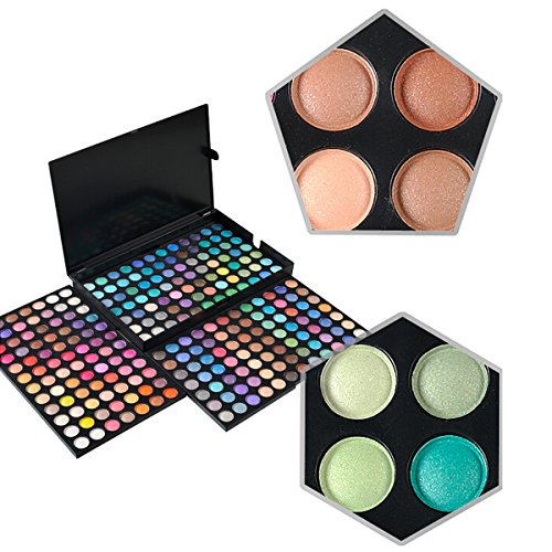 KRABICE Augenschatten Make-up Palette, 252 Farbe Lidschatten Palette Augenschatten Make-up Kit Set Make Up Professional Box (Kim Kardashian Make-up-kit)