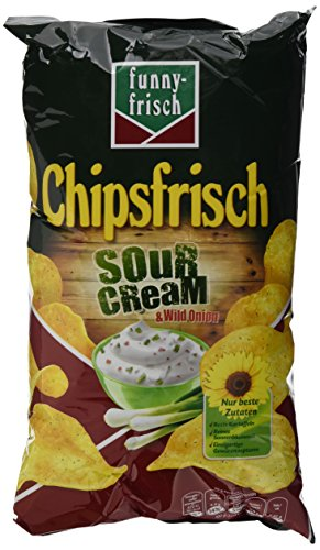 funny-frisch Chipsfrisch Sour Cream und Wild Onion, 175 g (Onion Chips Sour Cream)