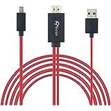 Micro USB auf HDMI Kabel, Rankie 2m MHL MicroUSB zu HDMI Full HD 1080P HDTV Adapter Schnur Kabel MHL Adapterkabel für Samsung S3/S4/S5, Galaxy Note 2, Note 3, Note 8.0, Note 10.1