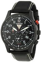 Junkers 6680-2 - Reloj cronógrafo de cuarzo para hombre, correa de cuero color negro de Junkers