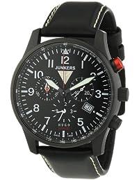 Junkers Herren-Armbanduhr XL Chronograph Quarz Leder 6680-2