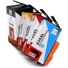 JETSIR Compatible Cartuchos de tinta Reemplazo para HP 934XL 935XL, Alta Capacidad Compatible con HP Officejet Pro 6830 6230 6820 6835 6812 6815 Impresora (1 Negro,1 Cian,1 Magenta,1 Amarillo)