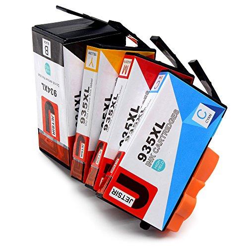 Preisvergleich Produktbild JETSIR Kompatibel Druckerpatronen Ersatz für HP 934XL 935XL, Hohe Ergiebigkeit Kompatibel Mit HP Officejet Pro 6830 6230 6820 6835 6812 6815 Drucker (1 Schwarz,1 Cyan,1 Magenta,1 Gelb)
