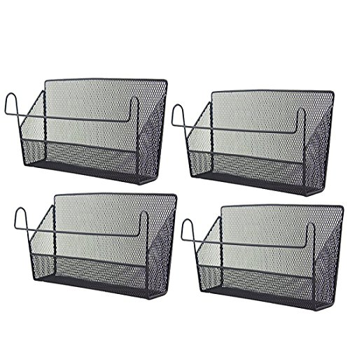 Hanging-basket-set (Vicoki Set von 4 Hanging Storage Basket Organizer Desktop Corner Regale - Schwarz)