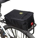 Fahrrad Gepäcktasche Satteltasche Gepäckträger Tasche Fahrradtasche Mit Rücklichtern Schwarz 28 * 16 * 11cm