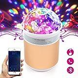 Luces Discoteca, Danolt Lámpara portátil para fiesta de disco con altavoz Bluetooth Reproductor de música alimentado por USB Regalo ideal para niños Fiestas de cumpleaños Espectáculo de baile