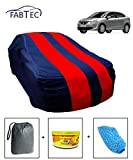 #8: Fabtec Car Body Cover for Maruti Baleno 2015 with Storage Bag + Air Freshener + Microfiber Glove Combo! (Red & Blue)