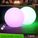 Luces LED flotantes 30 cm con luz solar 10 RGB de color cambiante para el aire libre impermeables para jardín lámparas