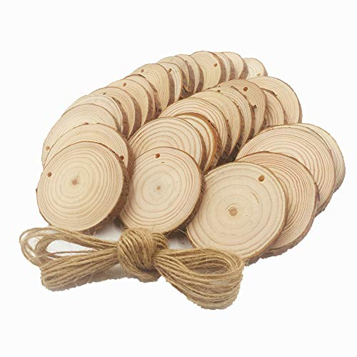 Natur Holz Scheiben 30PCS 6,1cm 2.8