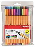 Stylo feutre pointe fine - STABILO Point 88 - Pochette de 30 stylos-feutres dont 5 couleurs fluo