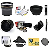 47th Street Photo Best Value Essential Lens Kit For The Canon EOS REBEL (T5i T4i T3i T3 T2i T1i XT XTi XSi SL1) - Includes: Opteka 0.35X High Definition Professional Super AF Fisheye Lens + 3.7x Extreme High Definition AF Telephoto Lens + Professional 5 P