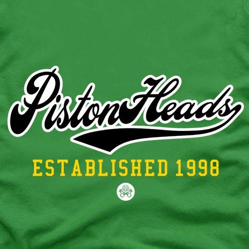 PistonHeads College T-Shirt, Herren Rot