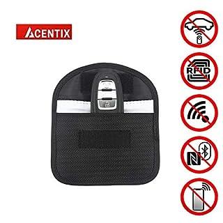 ACENTIX 12.5 * 8cm Autoschlüssel Signalblocker, Oxford wasserdicht Faraday-Tasche für Autoschlüssel,RFID Entry Protector Fob Guard Blockiert RFID / NFC / WIFI / GSM / LTE