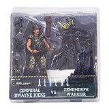 NECA Aliens Action Figures Hicks vs Battle Damaged Blue Warrior (Pack of 2)