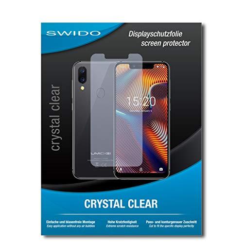 SWIDO Schutzfolie für UMIDIGI A3 Pro [2 Stück] Kristall-Klar, Hoher Härtegrad, Schutz vor Öl, Staub & Kratzer/Glasfolie, Bildschirmschutz, Bildschirmschutzfolie, Panzerglas-Folie