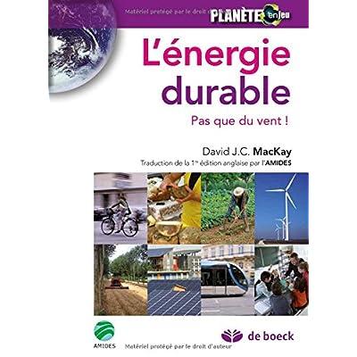 L'énergie durable : Pas que du vent !
